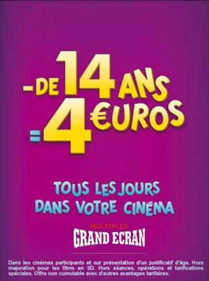 4 euros -14 ans